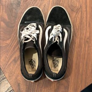 Black and white vans. Size 11.5